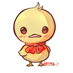 Kawaii Duck by Dessineka Cute Animal Drawings Kawaii, Kawaii Drawings, Cute Drawings, Art Canard, Duck Drawing, Duck Cartoon, Kawaii Background, Art Mignon, Duck Art