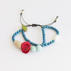 Charmed Bracelet . Turquoise Multi