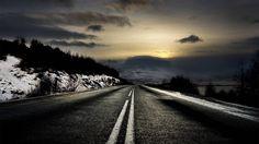 Fond d'écran hd : route de montagne