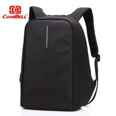 CoolBell waterproof 15.6 inch Fashion Anti-theft Business Laptop Backpack Travel business with  External USB Charge men women