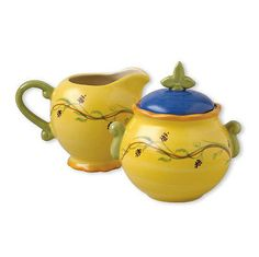 Cream and Sugar 103434: Pfaltzgraff Pistoulet Sugar Bowl And Creamer Set -> BUY IT NOW ONLY: $34.99 on eBay!