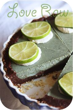 Lime pie (raw food) by Love Raw, via Flickr