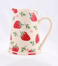 Handmade Strawberry Large Jug - Eden Pottery Shop