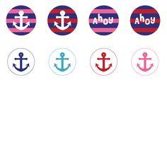 "1"" Nautical Anchors Bottle-Cap Images - Free"