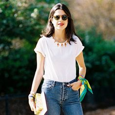 The All-Time Best White T-Shirts | The Zoe Report   White tee simply add a gentle bleach to you all-white laundry load.
