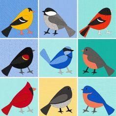 backyard birds applique pattern design process Bird Patterns, Applique Patterns, Applique Designs, Quilt Patterns, Different Alphabets, Blue Bunting, Bird Applique, Bird Quilt, Blue Fairy