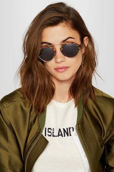Illesteva - Milan Iii Round-frame Acetate And Gold-tone Sunglasses - Tortoiseshell - one size