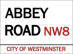 Abbey Road NW8 Metal Sign, City of Westminster, England, Beatles, Den Bar Decor #OMSC #Unitedkingdom