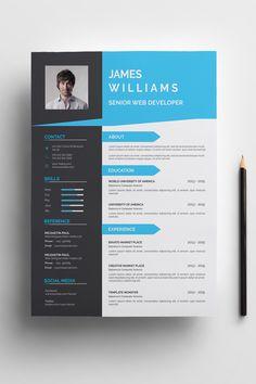 James Williams Resume Template ---CLICK IMAGE FOR MORE--- resume how to write a resume resume tips resume examples for student Creative Cv Template, Job Resume Template, Modern Resume Template, Resume Design Template, Online Cv Template, Templates Free, Portfolio Web, Logos Retro, Design Social