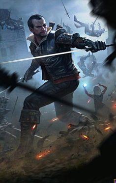m Ranger Studded Leather 2 Swords urban battle castle story