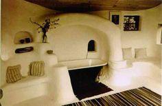 Cob house and bathroom