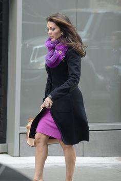 Lisa Vanderpump - purple scarf