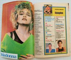 GREEK Magazine KATERINA_MADONNA_AL BANO & ROMINA POWER_J.TAYLOR_ELTON JOHN_1986