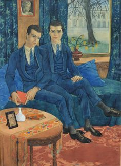 Karel Bruckmann (Dutch, 1903-1980), Les Frères Bruckman, 1923. Watercolour.