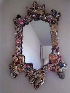 Upcycled Vintage Jeweled Mirror in Great Condition | eBay