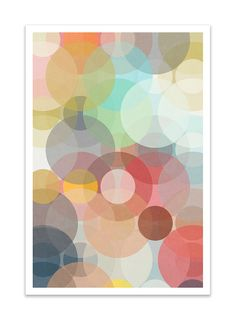 BOKEH no.36 Giclee Print Mid Century Contemporary by Thedor