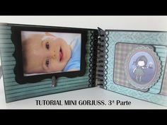 Tutorial mini gorjuss. 3ª Parte. - YouTube Baby Album, Mini Scrapbook Albums, Paper Houses, Shaker Cards, Office And School Supplies, American Crafts, First Baby, Free Design, Youtube