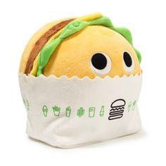 Food Pillows, Cute Pillows, Kawaii Plush, Cute Plush, Kawaii Pig, Shake Shack, Food Plushies, Yummy World, Robots For Kids