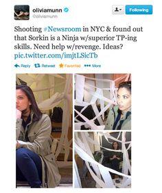 The Newsroom HBO, Olivia Munn Twitter