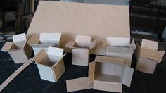 advice on making mini boxes - use a false bottom so they will sit flat