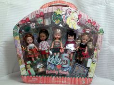 MATTEL  FROM THE WORLD OF BARBIE   KELLY  CLUB  5  RARE  HOLIDAY BUNCH  GIFT SET #Mattel #DollswithClothingAccessories