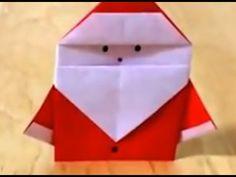 サンタクロース 折り紙 難易度★☆☆ origami Santa Claus Level one - YouTube