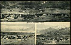 MISVÆR I SALTEN Nordland fylke, 3-bilders oversiktsmotiver Utg Chr. Andrsen, Aalborg. Stpl. 1944