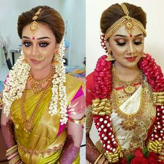 South indian bridal makeup blouses hindus Ideas for 2019 Indian Wedding Makeup, Indian Bridal Fashion, Indian Wedding Outfits, Wedding Attire, Bridal Makeup Looks, Bridal Hair And Makeup, Bridal Hairdo, Bridal Photoshoot, Hair Makeup