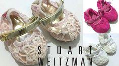 Stuart Weitzman Baby Girls Shoe Lace Design Hard Sole US Size 1,2,3,4 (0-12m)NEW