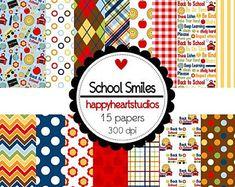 DigitalScrapbooking SchoolSmiles - Instant Download