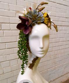 Tutorial DIY para uma peça central floral com cabeças de manequim