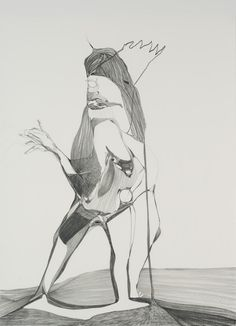 "Graphite Drawing #1, 2010, Graphite on paper, 25"" x 19"""