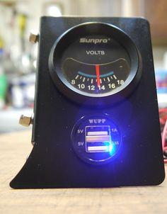 Citroen 2CV Digital Side Dash Made in England volt meter + USB UK Supplier