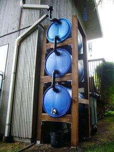 3-Barrel Rain Catch