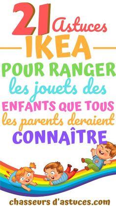 21 Astuces Ikea Pour Ranger Les Jouets Des Enfants Que Tous Les Parents Devraient Connaître. Voici une liste de 21 solutions de rangement géniales pour les jouets IKEA de vos enfants. Ces solutions de rangement pour jouets IKEA vous aideront à vous organiser avec un budget limité. Je ne sais pas pour vous, mais ma maison est envahie par des jouets ! 21 Astuces Ikea Pour Ranger Les Jouets Des Enfants Que Tous Les Parents Devraient Connaître. #chasseursdastuces
