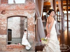 McKinney Cotton Mill, bridals by Bella Bee Photography