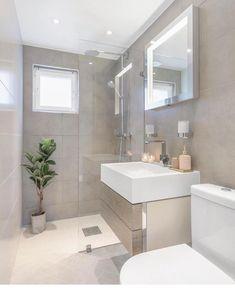 For those who like soft and simple surfaces, a beautiful bathroom decor - mixed details .- Soft ve sade yuzeyleri sevenler icin guZel bir banyo dekoru😊🛀 karisik deta… A nice bathroom for those who like soft and simple surfaces … - Small Bathroom Layout, Tiny House Bathroom, Small Shower Room, Toilette Design, Minimal Bathroom, Simple Bathroom, Bathroom Design Luxury, Bathroom Inspiration, Bathroom Ideas