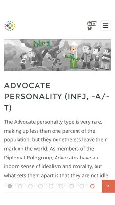 This is the site where I did the test. Best site to do that, in my opinion. #INFJ #INFP