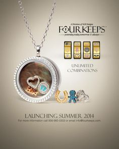 FourKeeps lockets and charms available at Josephs Jewelers West Glen.