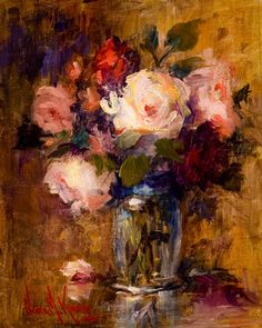 Oil painting on linen on board .Nora Kasten What's Art ? Art Floral, Abstract Flowers, Abstract Art, Blog Art, Paintings I Love, Oil Paintings, Still Life Art, Painting Inspiration, Flower Art