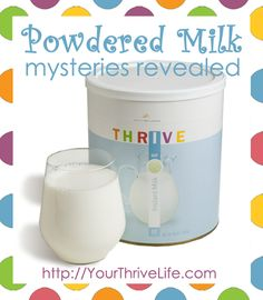 Powdered Milk Mysteries Revealed:  Everything you need to know about buying, storing, and using powdered milk.