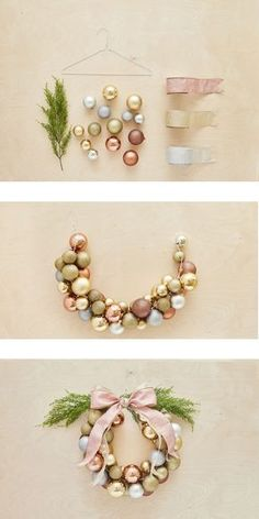 How to create a Christmas ball wreath in less than an hour / Comment faire une c. - How to create a Christmas ball wreath in less than an hour / Comment faire une couronne de boules e - Noel Christmas, All Things Christmas, Christmas Ornaments, Ball Ornaments, Ornaments Ideas, Wood Ornaments, Ideas For Christmas Trees, Christmas 2019, Diy Christmas Projects