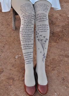 Tights with text from The Little Prince make for a pretty Christmas present idea.