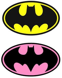 Batman (Yellow) / Batgirl (Pink) Iron On Transfer For Light Fabric, X Batman Party, Batgirl Party, Batman Birthday, Superhero Birthday Party, Superhero Cake, Boy Birthday, Birthday Cakes, Birthday Parties, Batman Girl