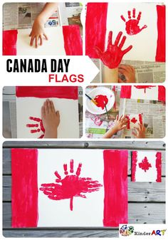 Make These Adorable Handprint Placemats for Canada Day - Handprint Canada Day Flag Placemats and Coasters Canada Day Flag, Canada Day Party, Canada 150, Remembrance Day Activities, Remembrance Day Poppy, Poppy Craft For Kids, Art For Kids, Memorial Day Poppies, Toddler Crafts