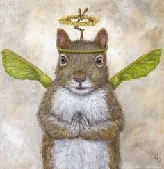 Angel blake by vicki sawyer vicki sawyer squirrel art, art и Squirrel Art, Cute Squirrel, Squirrels, Illustrations, Illustration Art, Whimsical Art, Animal Paintings, Pet Portraits, Art Images
