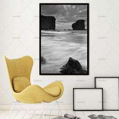 Landscape Lake Rock Nature Scandinavian Nordic Abstract Wall Pictures Art  Decoration Pictures Canvas Painting Prints No