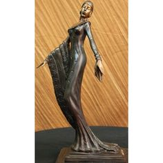 ON SALE !!! Art Deco Bronze Showgirl Theater Actress Woman Girl Statue Sculpture Decor Jazz...Beautiful Elegant Artwork, Fashion Girl , The Photo Does Not Do It Justice. This Is An Excellent Museum Quality Bronze Work Of Art. This Faithfully Reproduction Of Distinguished Highly Regarded, Prized For Well-Known Sensual Works. Features A Young Sophisticated Beauty Poised In Mid Motion Arms Gently Swaying And Body Raised On Tip Toes. A Subtle Gesture Of Refined Movement And Power. Beautifully…
