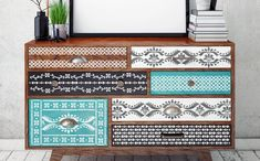 SATARA Indian Inlay Stencils Pack of 5 - Furniture Wall Floor Stencil for Painting