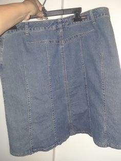 7fbb2a9b327b7 Baccini Denim Jeans Skirt Size 14 Long Modest No Slit Stretch Panel   fashion  clothing